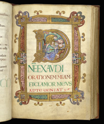 Historiated Psalm 101 Initial With David And Goliath, In 'The Eadui Psalter'